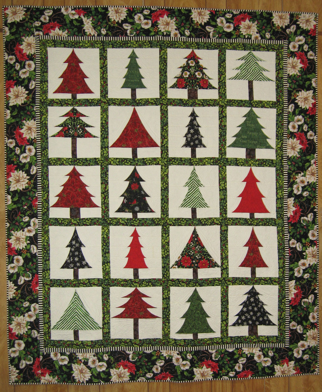 Log Cabin Christmas Tree Quilt.East Tennessee Shop Hop
